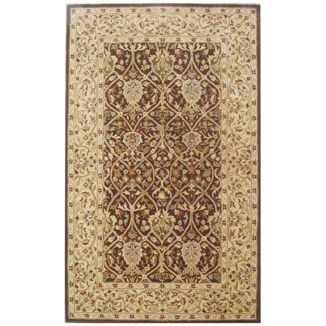 Safavieh Handmade Persian Legend Brown/ Beige Wool Rug (5' x 8')