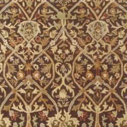 Safavieh Handmade Persian Legend Brown/ Beige Wool Rug (5' x 8') - Thumbnail 2