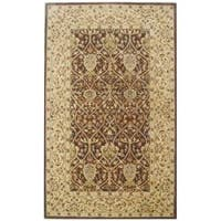 Safavieh Handmade Persian Legend Brown/ Beige Wool Rug - 5' x 8'