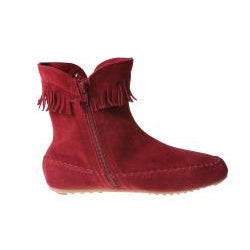 Refresh by Beston Women's 'Mini-02' Red Fringe Ankle Booties - Thumbnail 1