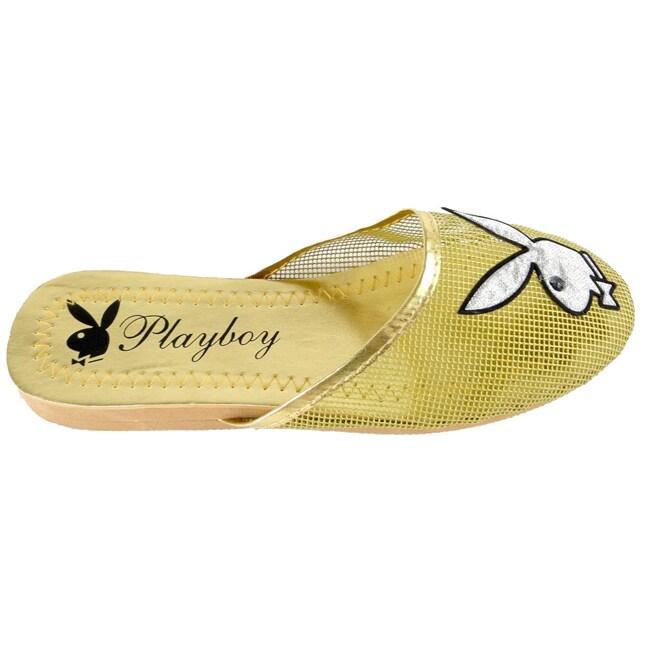 Playboy by Beston Women's Yellow Plastic Mesh Slippers