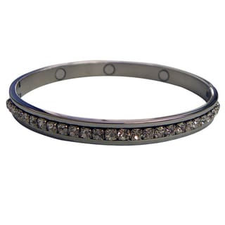 Magnetic Cubic Zirconia Bangle Bracelet