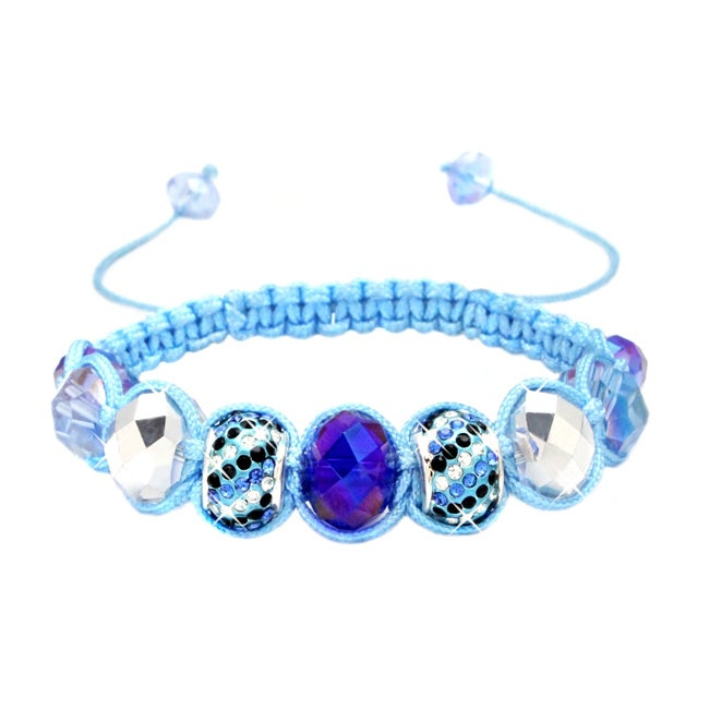 Karma Collection: Sapphire Blue Crystal Edition Macrame Bracelet