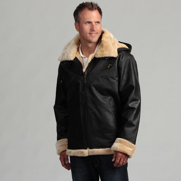 Tanners Avenue Men&39s Leather Shearling Bomber Jacket - Free
