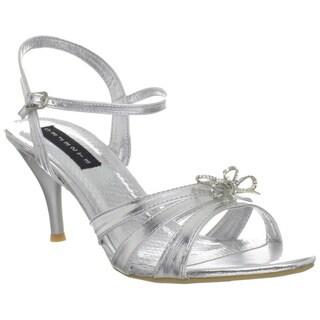 Celeste Women's 'Mari-05' Silver Ankle Strap Heels