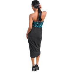 Stanzino Women's Two-tone Lace Top Overlap Skirt Dress - Thumbnail 1
