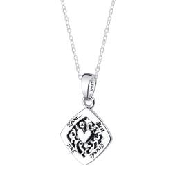Sterling Silver 'Best Friends Just Know' Heart Necklace - Thumbnail 1