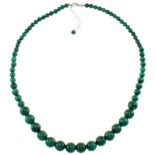 Pearlz Ocean Malachite Journey Beads Starnd Necklace Jewelry for Women