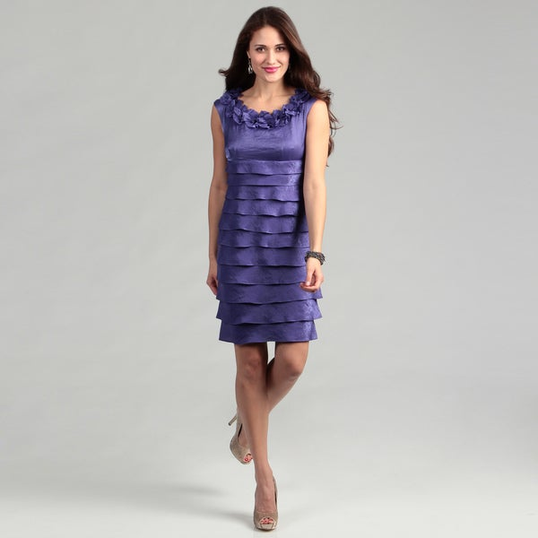London Times Women's 'Shimmer' Concord Dress