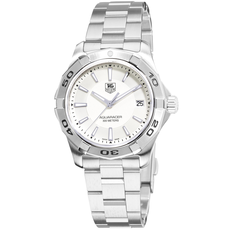 Tag Heuer Men's WAP1111.BA0831 '2000 Aquaracer' Silver Dial Stainless Steel Watch