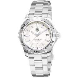 Tag Heuer Men's WAP1111.BA0831 '2000 Aquaracer' Silver Dial Stainless Steel Watch