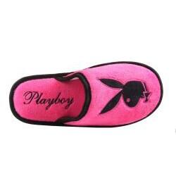 Playboy by Beston Women's Fuzzy Bunny Slip-Ons - Thumbnail 2