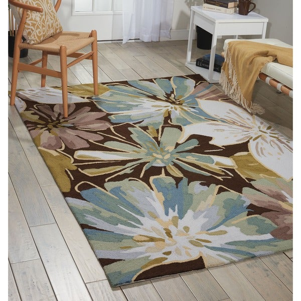 Nourison Hand-hooked Fantasy Brown Rug - 8' x 10'6