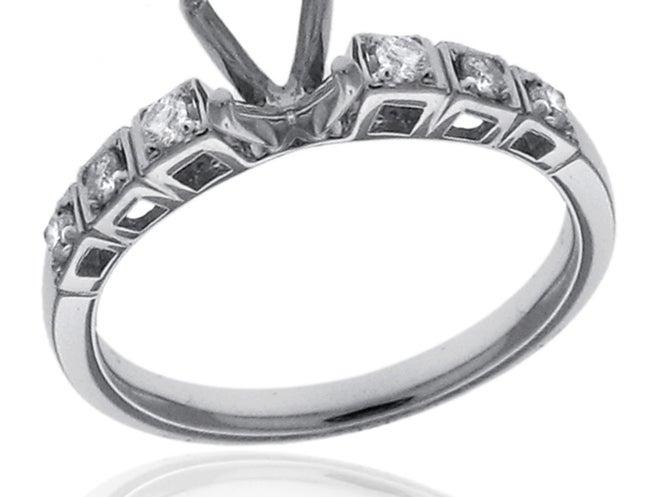 14k White Gold 1/5ct TDW Semi-mount Diamond Engagement Ring