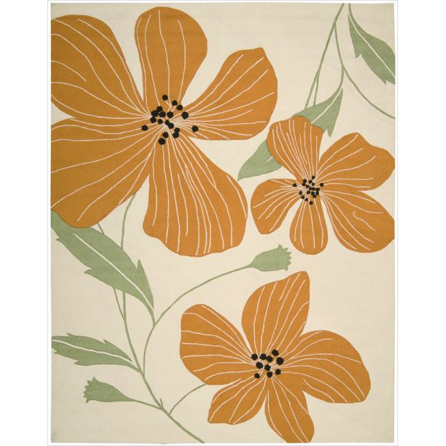 Nourison Hand-Hooked Fantasy Ivory Casual Rug (8' x 10'6) - 8' x 10'6