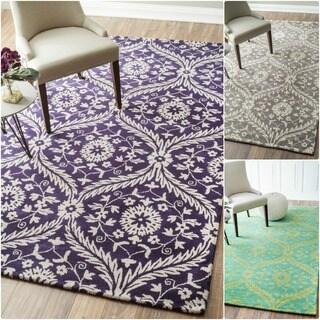 nuLOOM Handmade Floral Trellis Wool Rug (5' x 8')