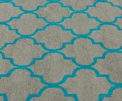 Handmade Luna Moroccan Trellis Grey Crisscross Pattern