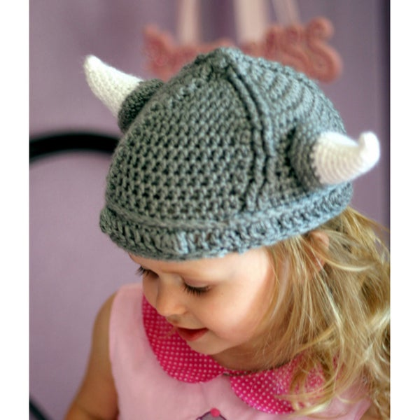 Handmade Grey Viking Hat
