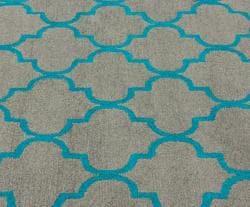 nuLOOM Handmade Moroccan Trellis Grey Wool Rug (7'6 x 9'6) - Thumbnail 2