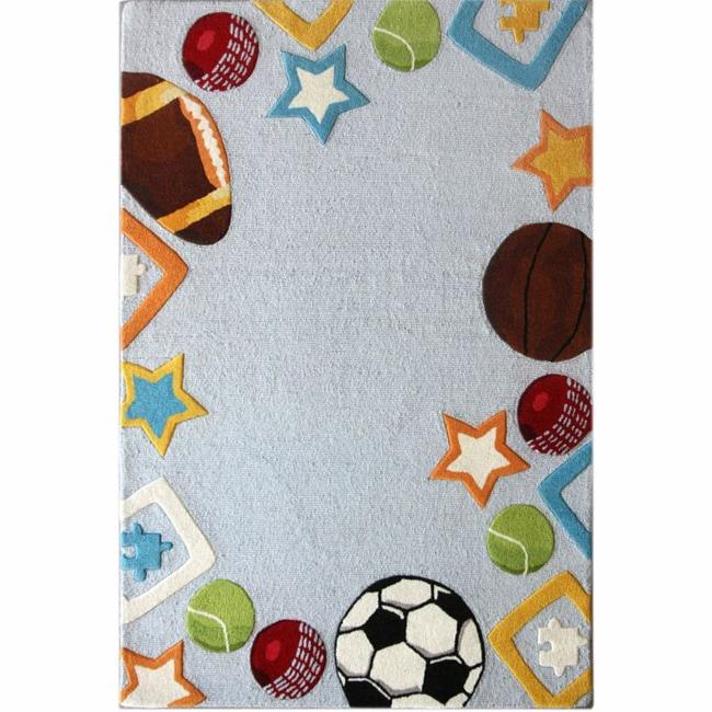 nuLOOM Handmade Kids Sportstime Wool Rug (5' x 7')