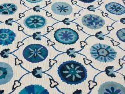 nuLOOM Handmade Spanish Mosaic Ivory Wool Rug (7'6 x 9'6) - Thumbnail 2