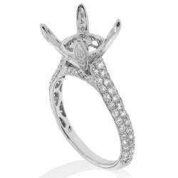 14kt White Gold 1ct TDW Diamond Engagement Ring - Thumbnail 1