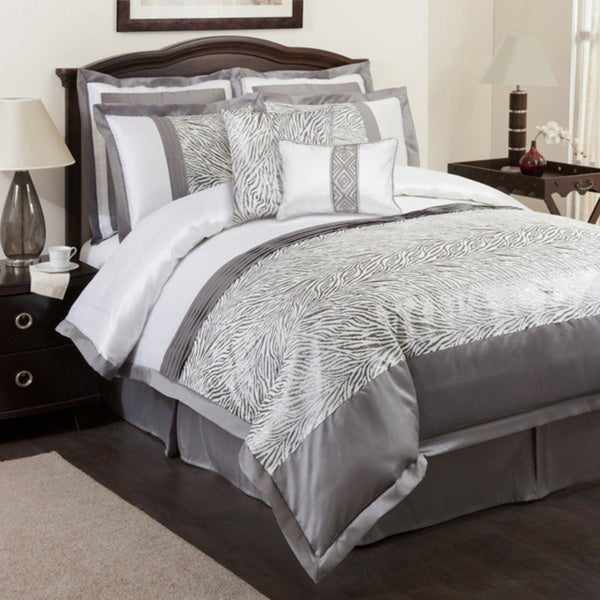 Shop Lush Decor Gray Urban Savanna 8 Piece Comforter Set