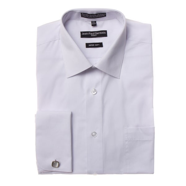 Jean Paul Germain Men's White French Cuff Dress Shirt - Free ...
