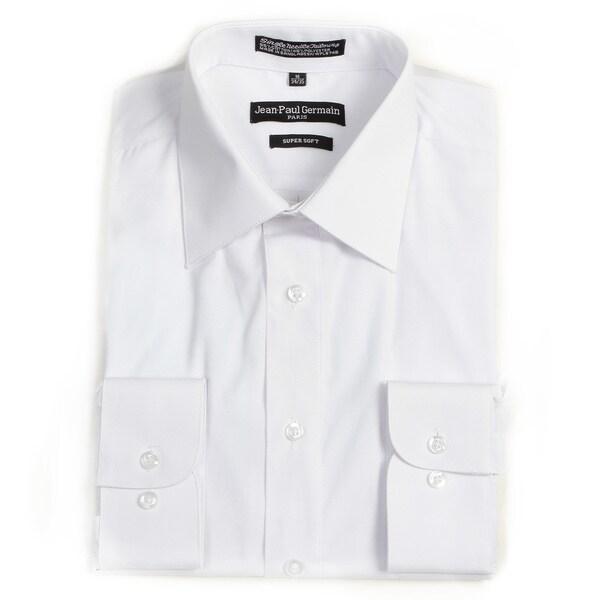 Jean Paul Germain Men's White Convertible Cuff Dress Shirt