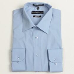 Jean Paul Germain Men's Medium Blue Convertible Cuff Dress Shirt