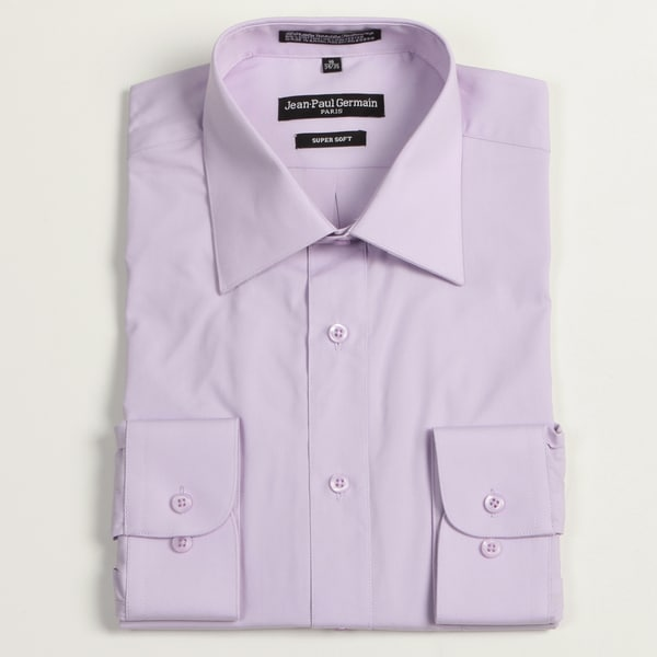 Jean Paul Germain Men's Lavender Convertible Cuff Dress Shirt