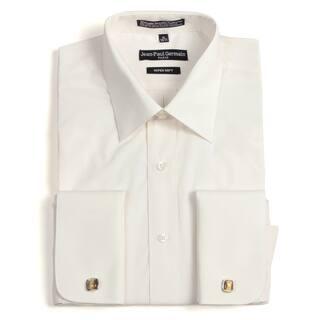 Jean Paul Germain Men's Bone French Cuff Dress Shirt|https://ak1.ostkcdn.com/images/products/6828012/P14357453.jpg?impolicy=medium
