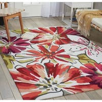 Nourison Hand-Hooked Fantasy Ivory Area Rug (5' x 7'6) - 5' x 7'6