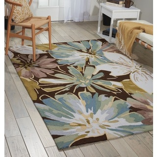 Nourison Hand-hooked Fantasy Brown Rug (5' x 7'6)