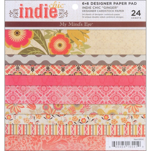 Indie Chic Ginger 6x6-inch Paper Pad (24 sheets)