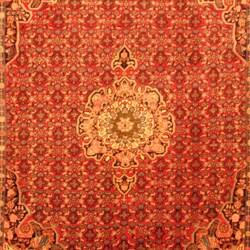 Persian Hand-knotted Tribal Bidjar Red/ Blue Wool Rug (7'3 x 9'7)