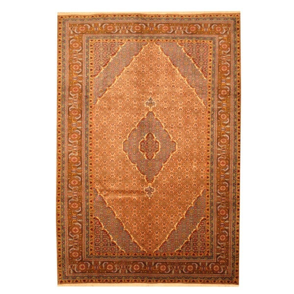 Herat Oriental Persian Hand-knotted Moud Wool Rug (6'7 x 9'8)