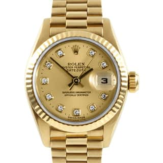 Pre-owned Rolex 18k Gold President Women's Watch|https://ak1.ostkcdn.com/images/products/6828239/P14357626.jpg?impolicy=medium