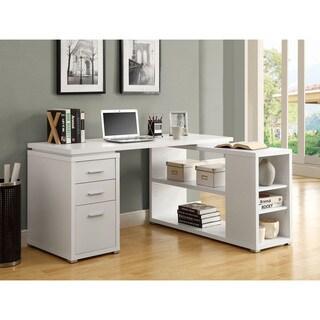 Amazing White Hollow Core Left Or Right Facing Corner Desk
