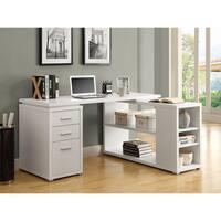 Monarch White Hollow Core Left or Right Facing Corner Desk