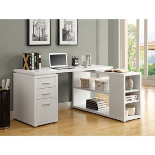 Monarch White Hollow Core Left or Right Facing Corner Desk