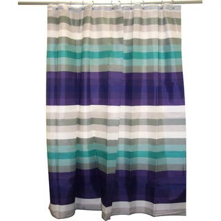 purple and turquoise shower curtain. Martinique Multi Stripe Shower Curtain Famous Home Curtains For Less  Overstock Com