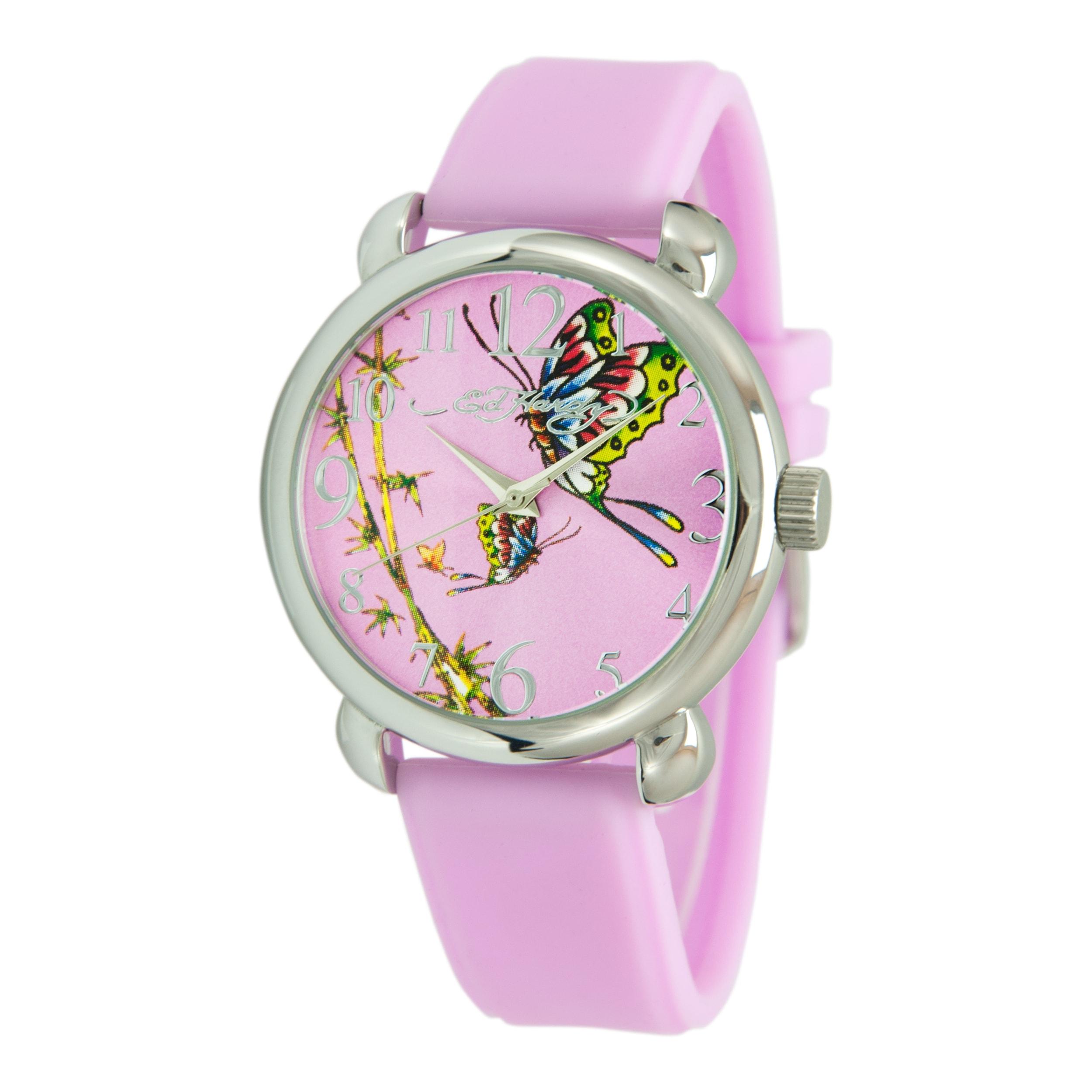 Ed Hardy Women's Fountain Pink Watch