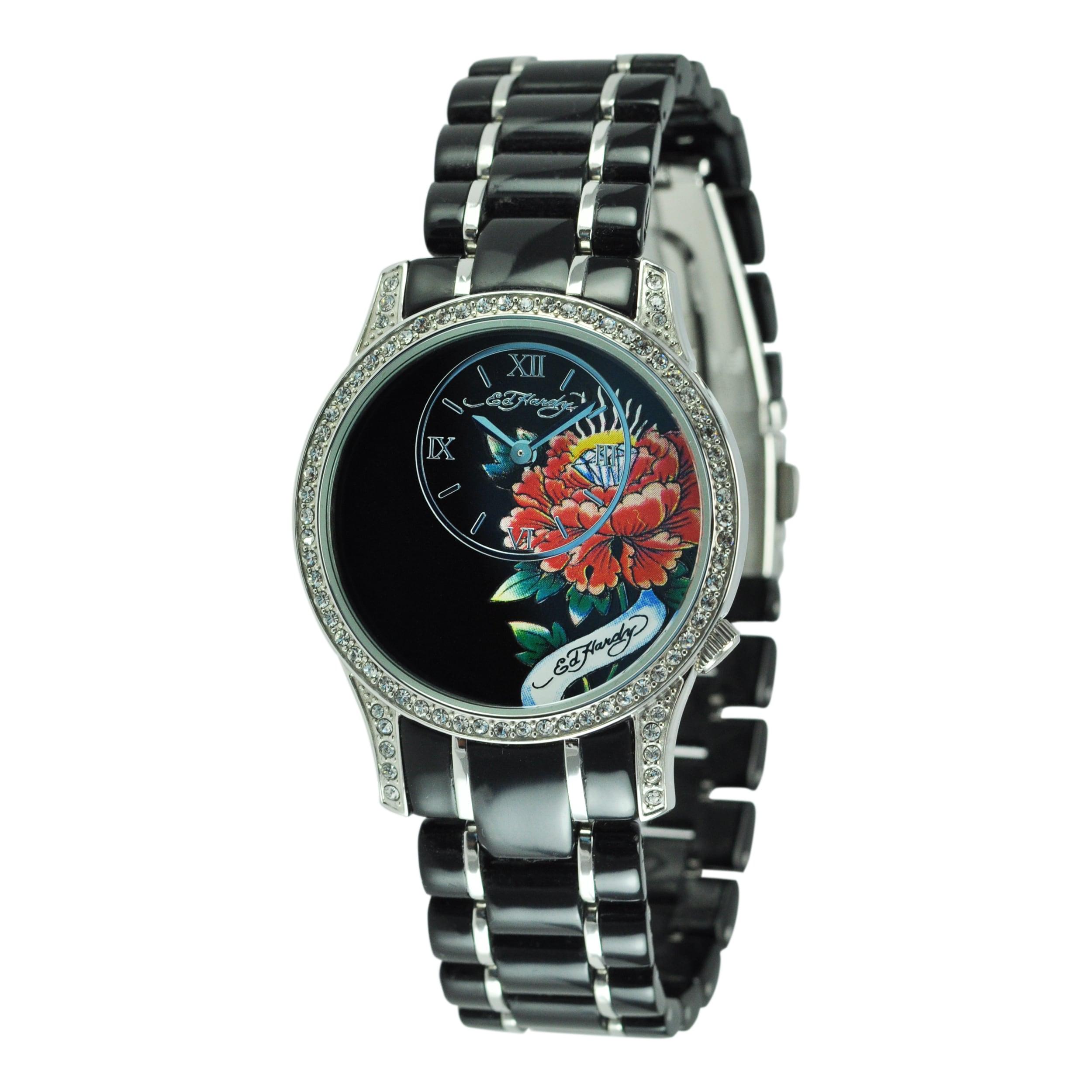 Ed Hardy Women's Jasmine Black Watch