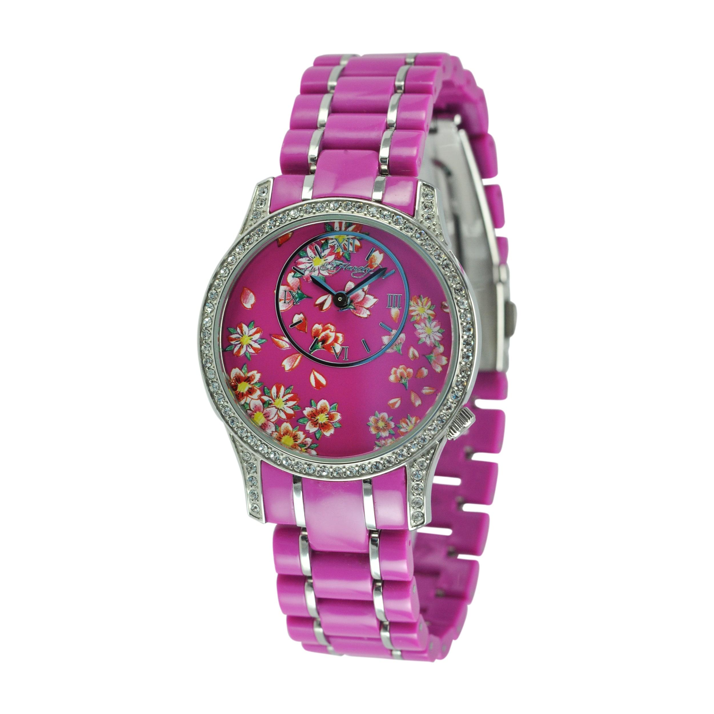 Ed Hardy Women's Jasmine Pink Watch