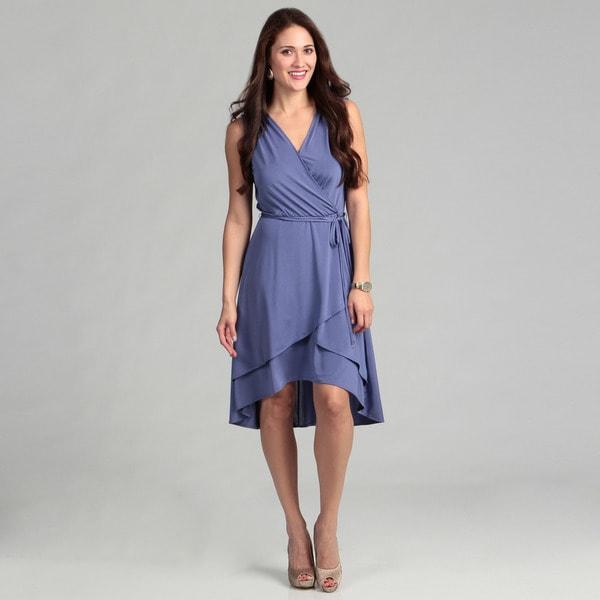 London Times Shiny Jersey Regatta Dress