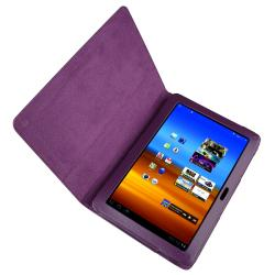 Purple Case/ Wrap/ Headset For Samsung Galaxy Tab P7500 10.1-inch - Thumbnail 1