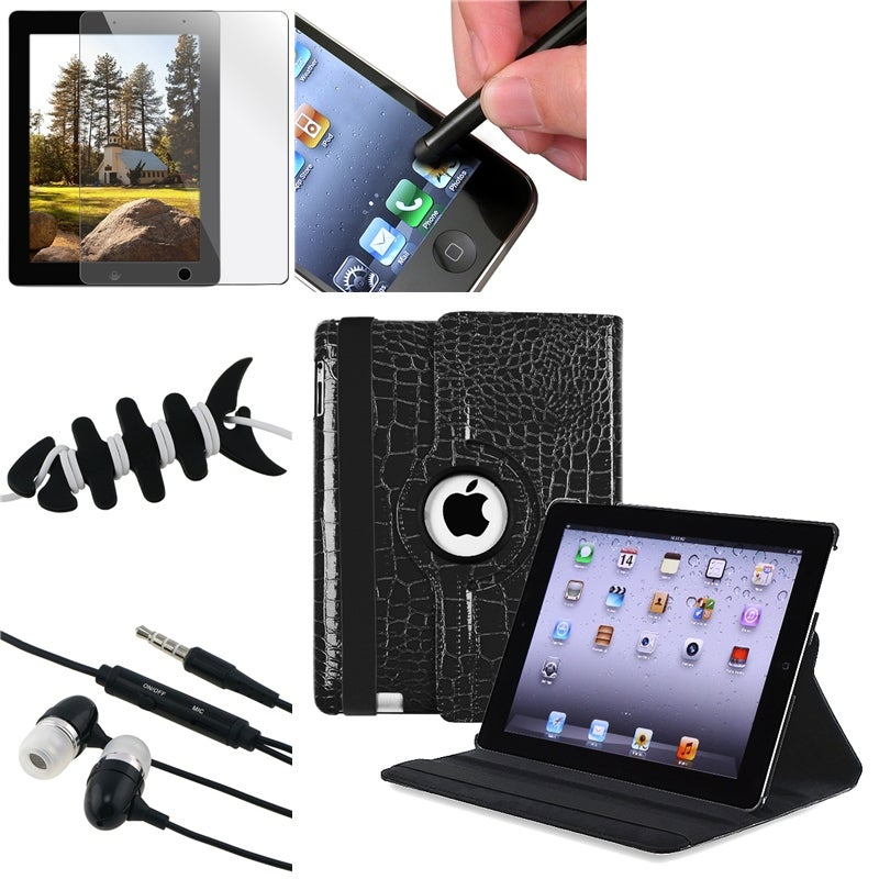 Swivel Case/ Screen Protector/ Headset/ Stylus/ Wrap for Apple iPad 2