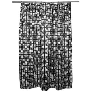 Revival Black and White Shower Curtain