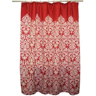 Shop Waverly Essence Lipstick Red Shower Curtain Free